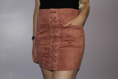 Stitches - Streetwear Society Faux Suede Skirt - Chloe Plus Coffee Try-On Haul
