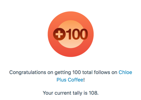 100 Followers - Chloe Plus Coffee