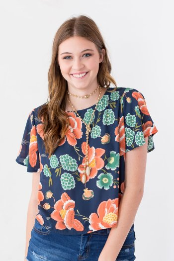 Entourage - Mushroom Valley Floral Top