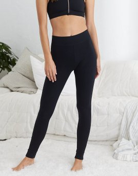 Black Leggings | Aerie for American Eagle