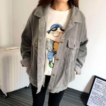 Corduroy Gray Jacket | it girl clothing