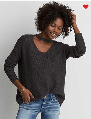 American Eagle - AEO Choker Neck Sweater