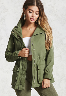 Hooded Utility Jacket | Forever21