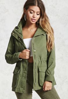 Hooded Utility Jacket | Forever21