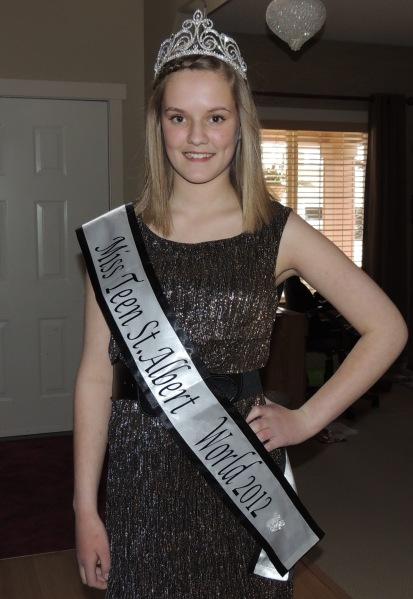Chloe Fulton - Miss Teenage St. Albert 2012