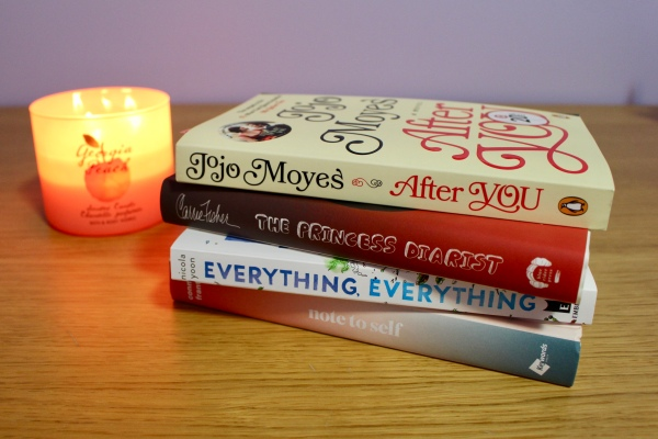 Target - After You Jojo Moyes - The Princess Diarist Carrie Fisher - Everything, Everything Nicola Yoon - Note to Self Connor Franta