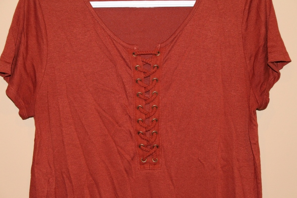 Kohl's - Lace up short sleeve top