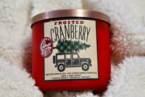 Bath & Body Works Frosted Cranberry Candle | Chloe Plus Coffee