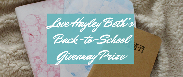Love Hayley Beth's Giveaway Prize