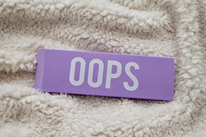 "Love Hayley Beth's Giveaway Prize | NeonSupply Jumbo Purple Eraser ""Oops"""
