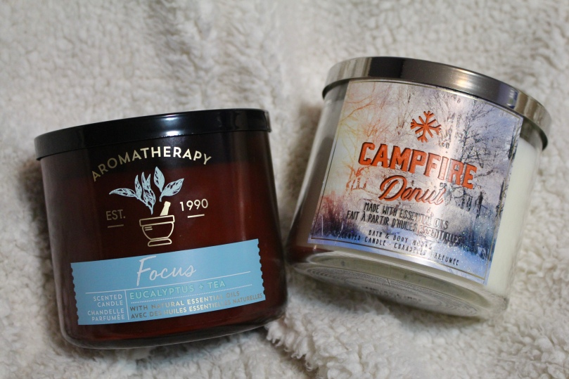 Bath & Body Works | Aromatherapy Focus Candle | Campfire Donut Candle | Chloe Plus Coffee