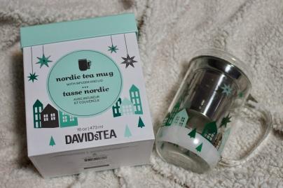 Davids Tea | Nordic tea mug with infuser | Chloe Plus Coffee