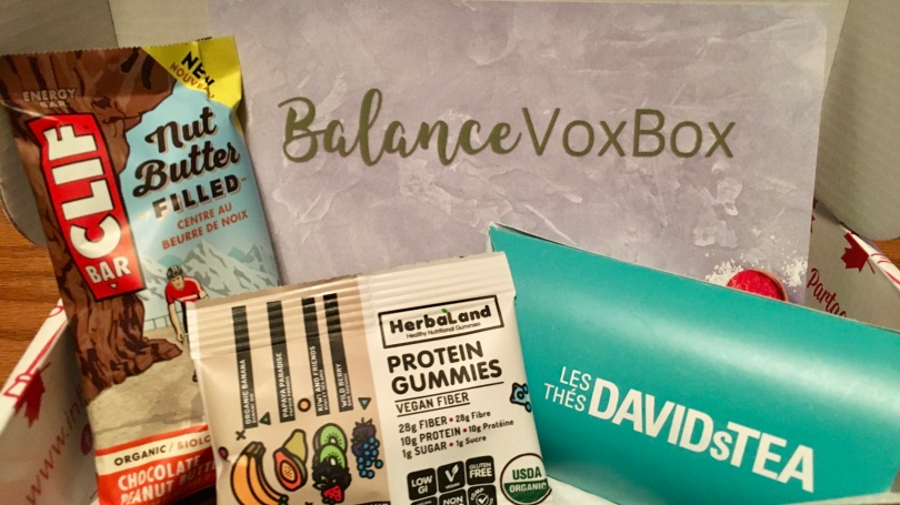 Balance VoxBox | Influenster Canada | FREE products for influencers | Clif Bar | Davids Tea | Herbaland | Vea Snacks | Chloe Plus Coffee